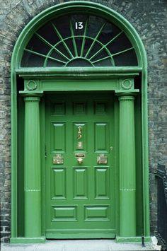 Emerald Georgian door Dublin Ireland