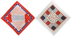 "Lot 473: World War II Printed Textile Souvenirs; Two printed patriotic textiles with one reading ""Remember Pearl Harbor;"" both mounted onto foam core boards and covered in shrink wrap"