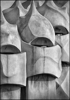 Casa Milà  better known as La Pedrera meaning the 'The Quarry', is a building designed by the Catalan architect Antoni Gaudí and built during the years 1906–1912. It is located at 92, Passeig de Gràcia in the Eixample district of Barcelona, Catalonia. Photo Mabelle Imossi