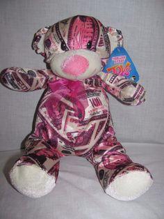 "NEW Sugar Loaf Plush Money Bear Pink 14"" Cash #SugarLoaf"