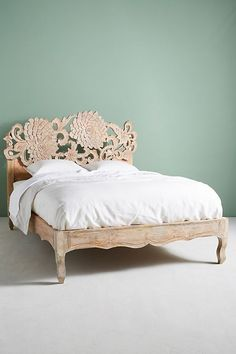 Slide View: 8: Hand-Carved Lotus Bed