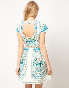 oasis placement print dress