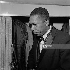 American jazz saxophonist John Coltrane (1926 - 1967) at Birmingham Hippodrome, 12th November 1961.