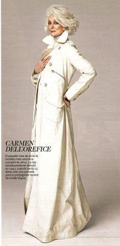 Carmen Dell'Orefice Years 80 | CARMEN DELL'OREFICE: La modelo mas veterana cumplió 80 años