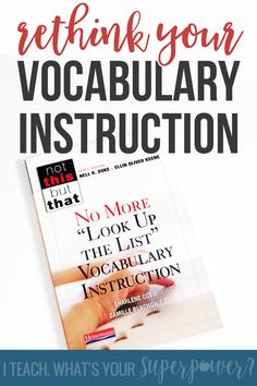 Know your vocabulary instruction is lacking but not sure how to make the change?  This book is a perfect (and fast) overview of what works in vocabulary instruction as well as what doesn't.