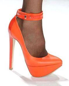 "Ruthie Davis ""Linden"" on the catwalk at NYC Fashion Week."