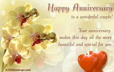 Anniversary wishes to a great couple pc g happy happy