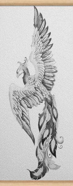 head and shading detail - Like the head and shading detail -Like the head and shading detail - Like the head and shading detail - Phoenix Ink drawing by Doriana Popa Phoenix Bird Tattoos, Phoenix Tattoo Design, Pheonix Drawing, Phenix Tattoo, Initial Tattoo, Girl Power Tattoo, Vogel Tattoo, Diy Tattoo Permanent, Phoenix Art