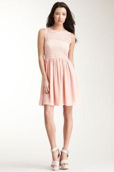 0307d6875e American Apparel Sleeveless Lace Chiffon Dress on HauteLook