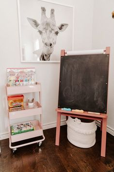 How to Make an Art Cart for Your Toddler., How to Make an Art Cart for Your Toddler Small Playroom, Toddler Playroom, Playroom Art, Playroom Storage, Playroom Design, Toddler Rooms, Toddler Art, Kids Storage, Small Kids Playrooms