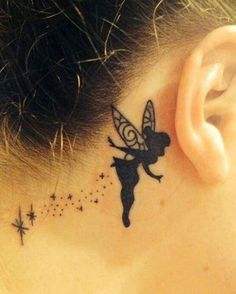 I've always wanted a tat like this. simple silhouette of tinkerbell