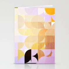 Retro Dots Orchids Stationery Cards by Fine2art - $12.00