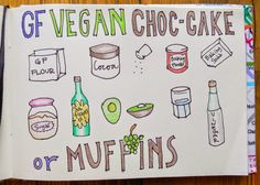 Easy and Happy Food: Chocolate vegan cake and/or muffins.Torta y/o muff...