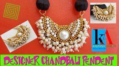 DIY | How to make Silk Thread Pendant  | Designer Chandbali Pendant | Tutorial - YouTube