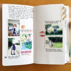 Traveler's Notebook trip layout