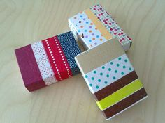 Washi Tape jewelry gift boxes