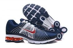 d36a3f6d470 Comfortable Nike Air Shox Fabrique 2018 White Navy Blue Red Shox Nz Men s  Athletic Running Shoes