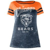 Touch NFL Burn-Out All Star T-Shirt - Women's - Chicago Bears - Navy / Orange