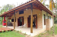 Stylish terraces by RAC ARQUITETURA While early around thought, your pergola have been suffering from Cottage Design, House Design, Bungalow, Small Country Homes, Country Houses, Weekend House, Spanish House, Backyard, Patio