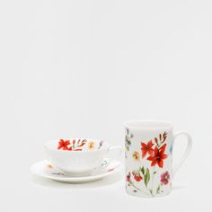 PORCELAIN setting with Wildflowers - table - New Collection | Zara Home Germany