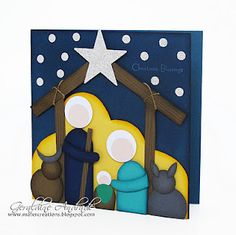 Stampin' Up!  Punch Art  Geraldine Andrade  Nativity Tutorial