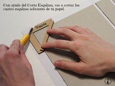 CdC. Encuadernadores de madera, cortador de esquinas.