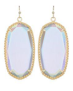 Deily Earrings in Clear Iridescent - Kendra Scott Jewelry