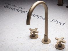 3-Loch Waschtischarmatur aus verchromtem Messing CLASSIC ICONA Kollektion Icona by Fantini Rubinetti Design Vincent Van Duysen