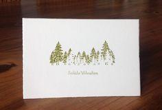 Weihnachtskarte Tannenwald, Alexandra Renke