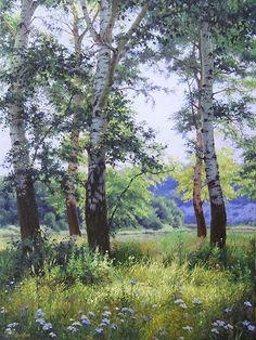 Kirichenko Gennadiy painting (oil) #tree #art #landscape: #OilPaintingLandscape