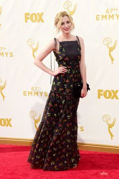 Laura Carmichael in Erdem at the 2015 Emmys. See what all the stars wore to the ceremony.