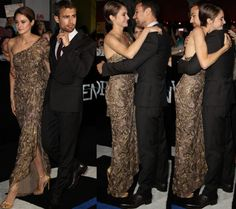Sheo! Look at his face in second pic then third pic, he looks like he wanted something more than a hug! Eeks!