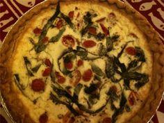 Tomato-Basil Quiche With Goat Cheese Recipe - Food.com