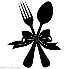Sticker-Cuisine-Fourchette-Cuillere-avec-noeud-15x12cm-a-36x30cm-CUISINE034