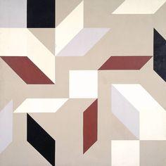 transistoradio:  Robert Medley (1905-1994), Three over Four (1970), acrylic on canvas, 182.9 × 182.9cm. Collection of Tate, UK. Via Tate.