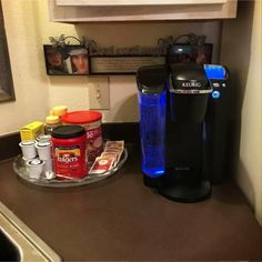 Simple idea for a coffee area with my Keurig in my small kitchen