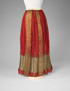 Skirt | Romanian | fourth quarter 19th century | silk, metal | Brooklyn Museum Costume Collection at The Metropolitan Museum of Art | Accession Number: 2009.300.2281