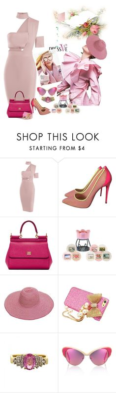 """conley_esperanzaj-brownshuga"" by conley-esperanzaj1957 ❤ liked on Polyvore featuring Christian Louboutin, Dolce&Gabbana, Yankee Candle, LeVian and Andy Wolf"