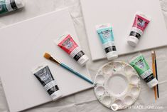 See how great the new line of Deco Art Americana Premium Paints blend together to create a beautiful watermelon canvas art this summer! Kids Canvas, Canvas Art, Art For Kids, Crafts For Kids, Art Crafts, Americana Paint, Watermelon Birthday Parties, Tea Design, Acrylic Painting Tutorials