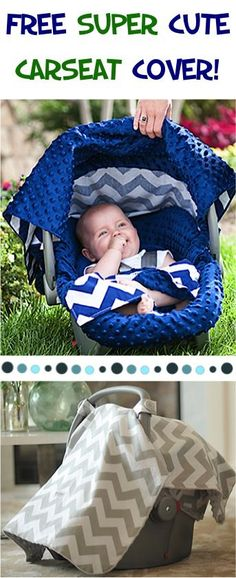 FREE Super Cute Chevron Carseat Canopy Cover! {just pay s/h} - these make the BEST Baby Shower gifts!! Pick your favorite pattern! #babies #thefrugalgirls