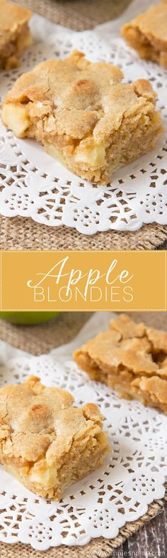 Soft, chewy Apple Blondies filled with spices and plenty of apple! Once baked…