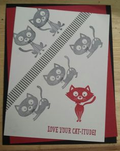 You Little Furball Stampin up. Real Red & Basic Black - MonicaVT