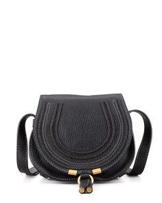 V1N44 Chloe Marcie Small Satchel Bag, Black