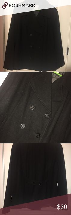 Black Old Navy Peacoat Size XXL Old Navy pea coat, in excellent condition, warm and cozy, size XXL Old Navy Jackets & Coats Pea Coats