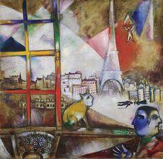 """Paris Through the Window"" by Marc Chagall"