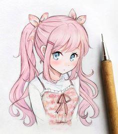 Anime Drawings Sketches, Anime Sketch, Kawaii Drawings, Manga Drawing, Manga Art, Cute Drawings, Sketch Drawing, Drawing Art, Owl Drawings