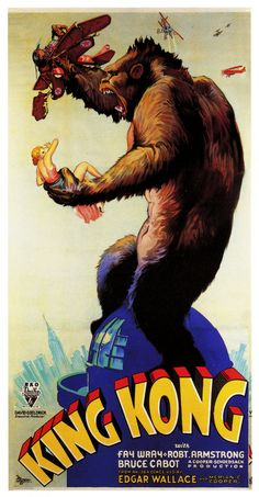"Movie poster, ""King Kong"""