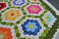 Grandmothers Garden - Idea for finishing mine in a hexagon shape