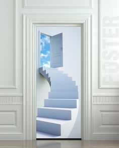 Hey, I found this really awesome Etsy listing at https://www.etsy.com/listing/123485013/door-sticker-stairs-flight-sky-heaven