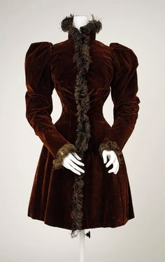 Jacket Date: ca. 1894 Culture: American Medium: silk Dimensions: Length at CB: 37 1/2 in. (95.3 cm) Credit Line: Gift of Mrs. J. V. McMullan, 1962 Accession Number: C.I.62.15.2